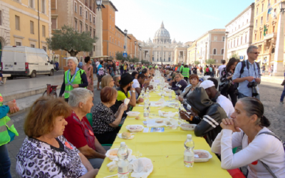 'Tavolata' in Rome to show solidarity ahead of World Day of Migrants and Refugees