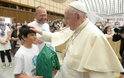 What special gift did Pope Francis receive to start the Season of Creation?